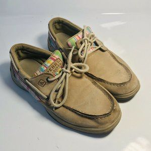SPERRY Girls Size 5.5 Topsider Intrepid Boat Shoes